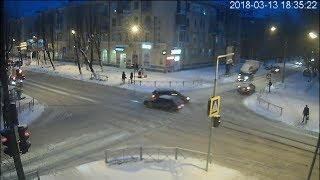Шкода не дала пролететь ВАЗ-2114. Северодвинск.