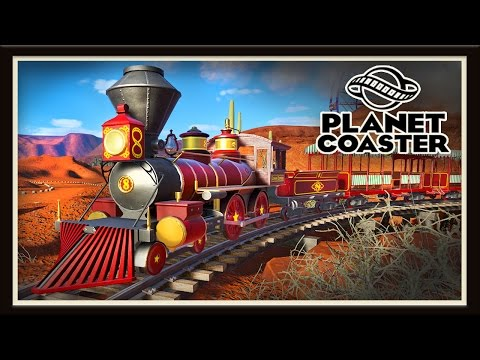 Planet Coaster: Creating Old West Land And Train Build  (Season 2 - part 3)