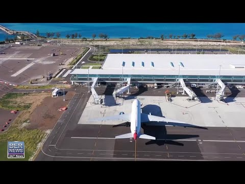 Test Trial Of Airport Docking At Bermuda's New Airport Terminal, Nov 2020