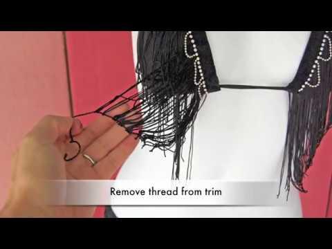 032daded7db DIY Fringe Bikini Top - FASHION HACK - YouTube