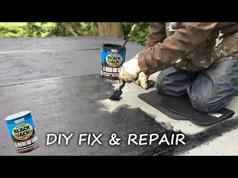 DIY: How to fix, repair, protect and seal a felt roof and fl