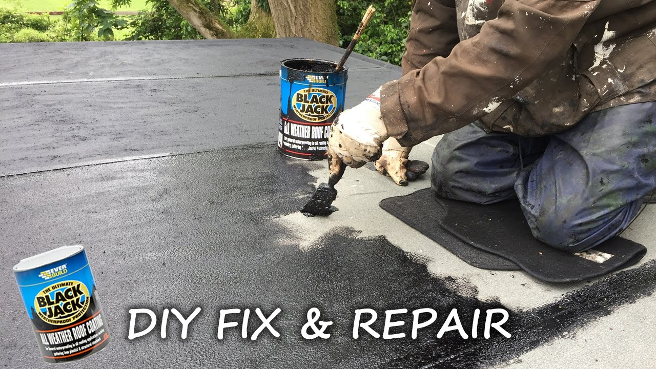 Diy How To Fix Repair Protect And Seal A Felt Roof And