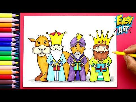 Como Dibujar Los Reyes Magos Navidad How To Draw Wise Men