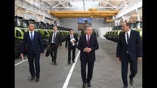 Президент Узбекистана посетил Ташкентский завод сельскохозяйственной техники