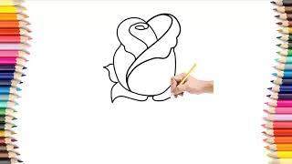 How To Draw A Rose  Easy Step by Step For Kids   Hướng Dẫn Vẽ Hoa Hồng Đơn Giản
