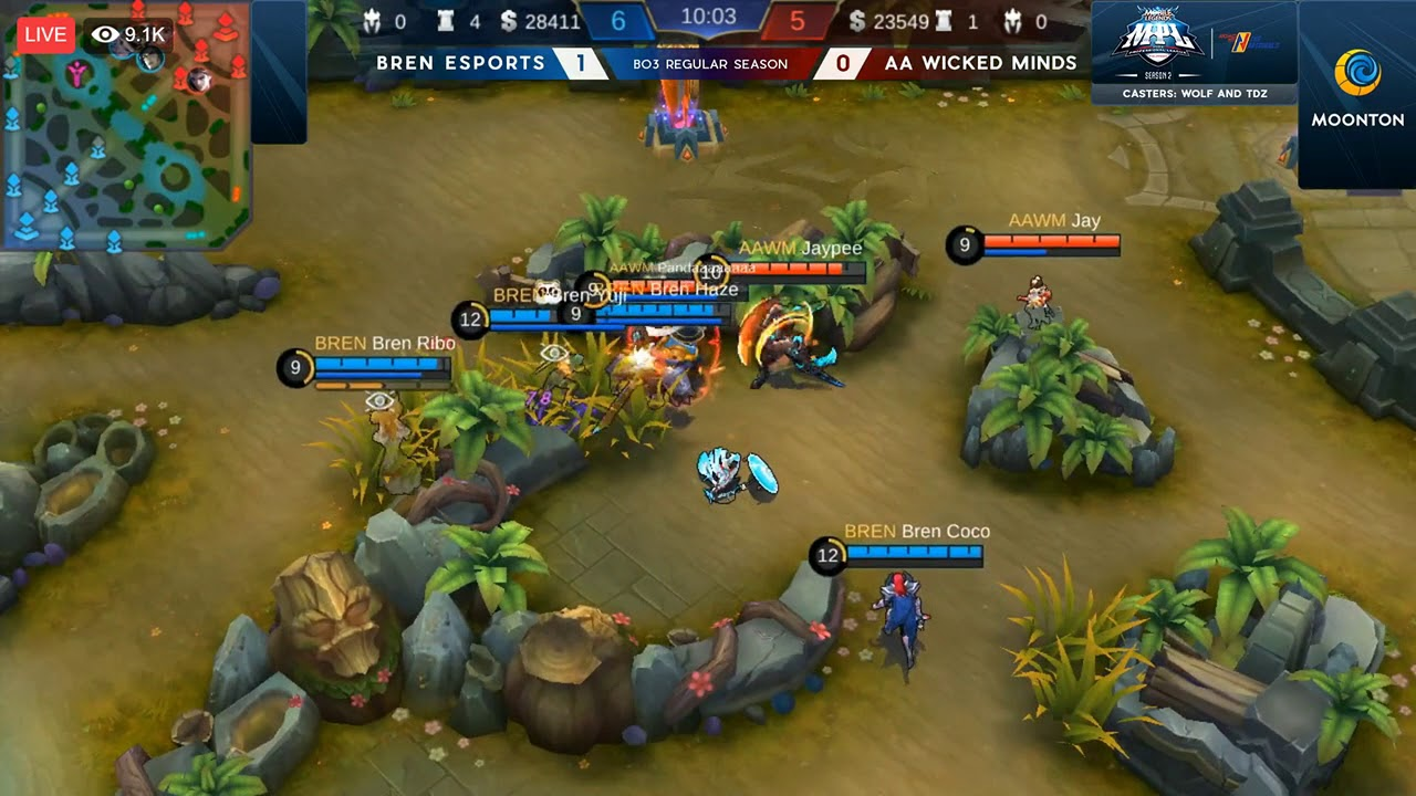 GAME 2 - BREN vs AAWM - Mobile legends - MPL SEASON 2 - GAMEPLAY