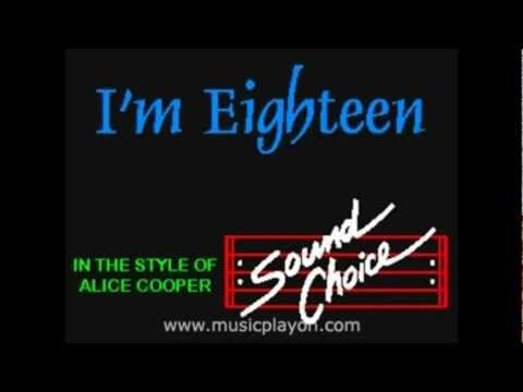 Alice Cooper-I'm Eighteen Karaoke