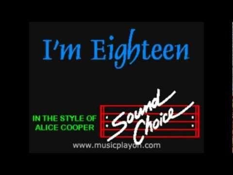 Alice Cooper-I'm Eighteen Karaoke