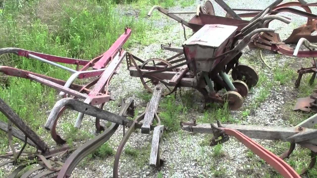Antique Farm Equipment Hand Plow Collection Youtube