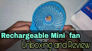[ Hindi ] Mini Portable USB Rechargeable 3 Speed Fan Unboxing and Review in Hindi | Tech G |