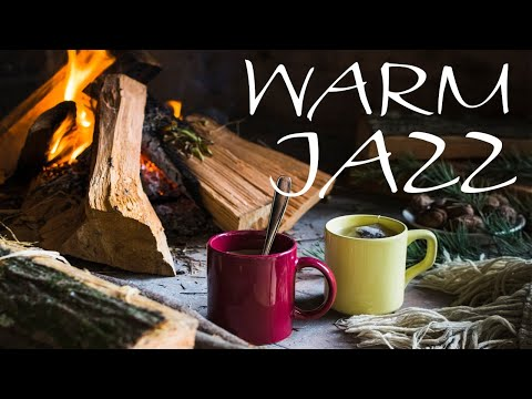Relaxing Warm JAZZ - Smooth Fireplace & Smooth JAZZ Music For Stress Relief - Chill Out Music