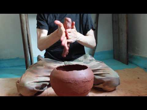 Make coils for hand built clay vessel.