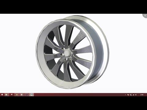 alloy wheel design in creo parametric (2.0/3.0/5.0)