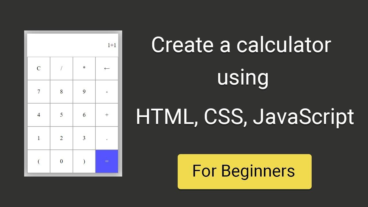 Create a simple calculator using HTML, CSS, JavaScript