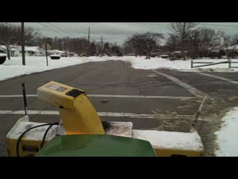 How to plow alot of snow quickly!