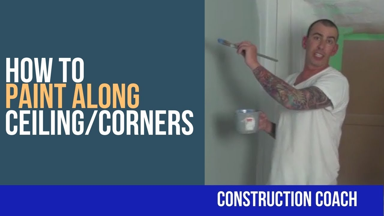 How to Paint Along Ceiling/Corners - DIY - YouTube