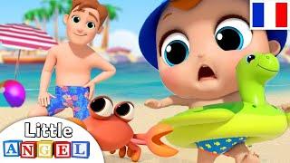 Jouons dans l'eau à la Plage - Comptines pour Bébé - Little Angel Français