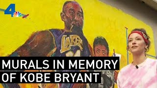 Artist Paints Her First Mural in Memory of Kobe Bryant | NBCLA