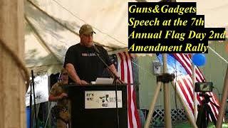 Jared from Guns&Gadgets Motivational Speech Flag Day Rally Part 2