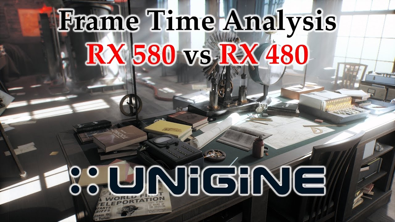 RX 580 vs RX 480 Frame Time Analysis - Unigine Superposition v1 0 DX11  [BENCHMARK]