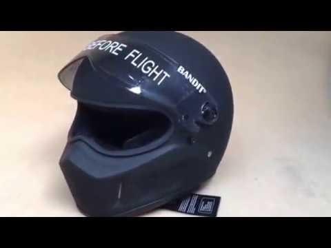 Bandit GmbH Super Street Matte  black motorcycle helmet superbandit fiberglass. CustomCruisers.com.