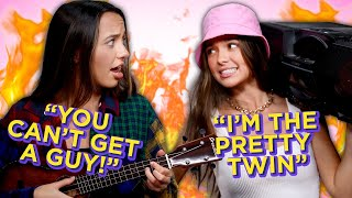 TWIN vs TWIN Diss Track Battle | Mystery Twin Bin w/ The Merrell Twins Songs
