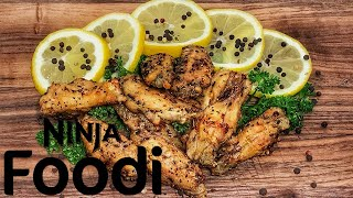 Ninja Foodi Lemon Pepper Chicken Wings | Ninja Foodi Recipes | Frozen to crispy in 20 min!
