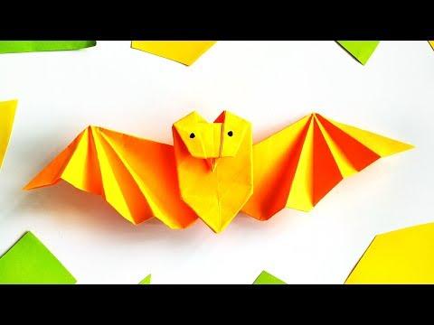 diy-origami-bat-tutorial-for-halloween-home-decor---paper-crafts-ideas