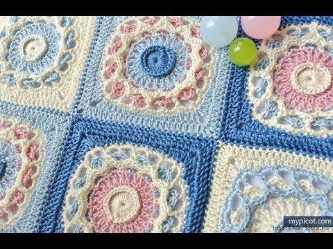 Crochet Patterns For Crochet Blanket Squares 2297 Youtube