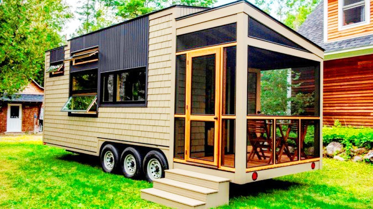 25 Foot Tiny House On Wheels With Screened In Porch