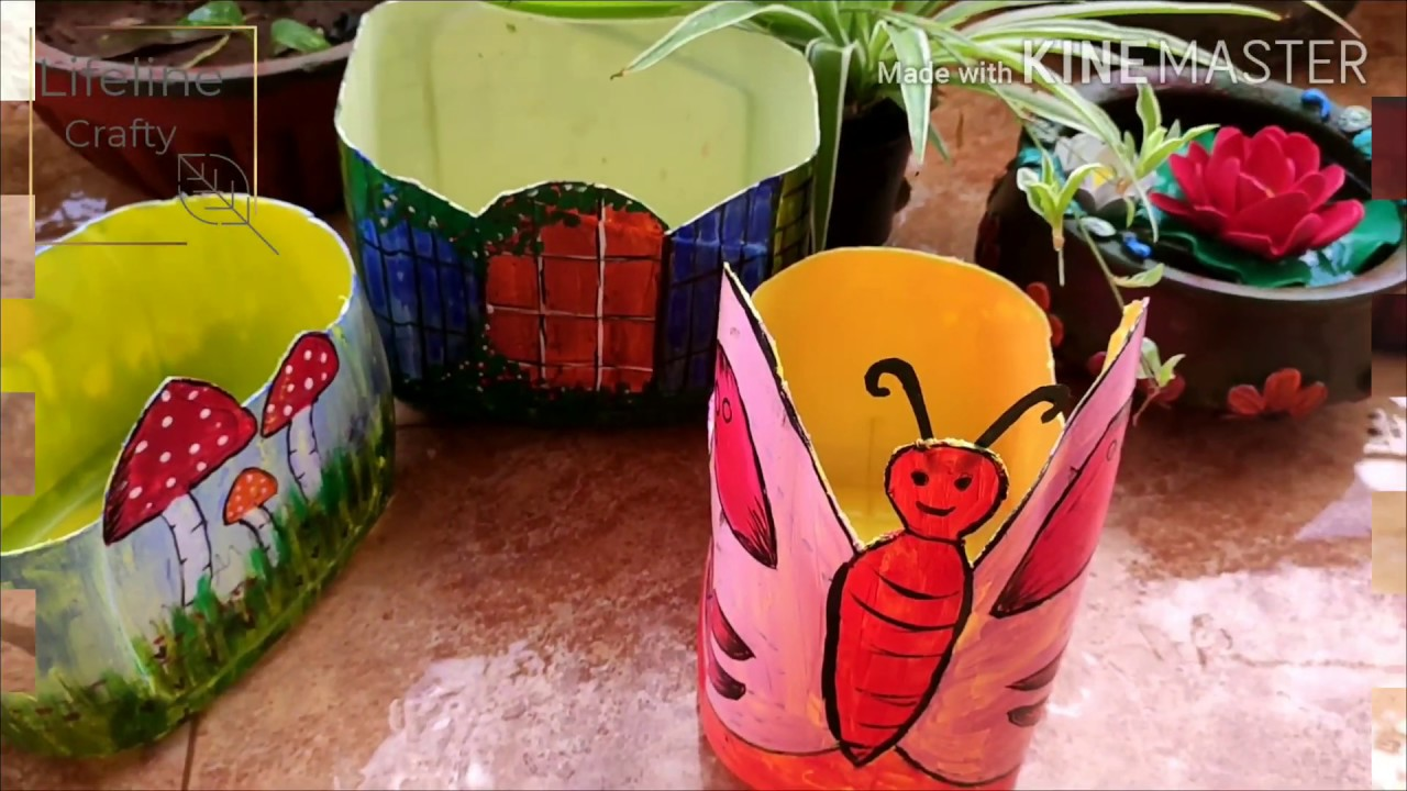 DIY Oil Can Planters/Garden decor with waste materials ...