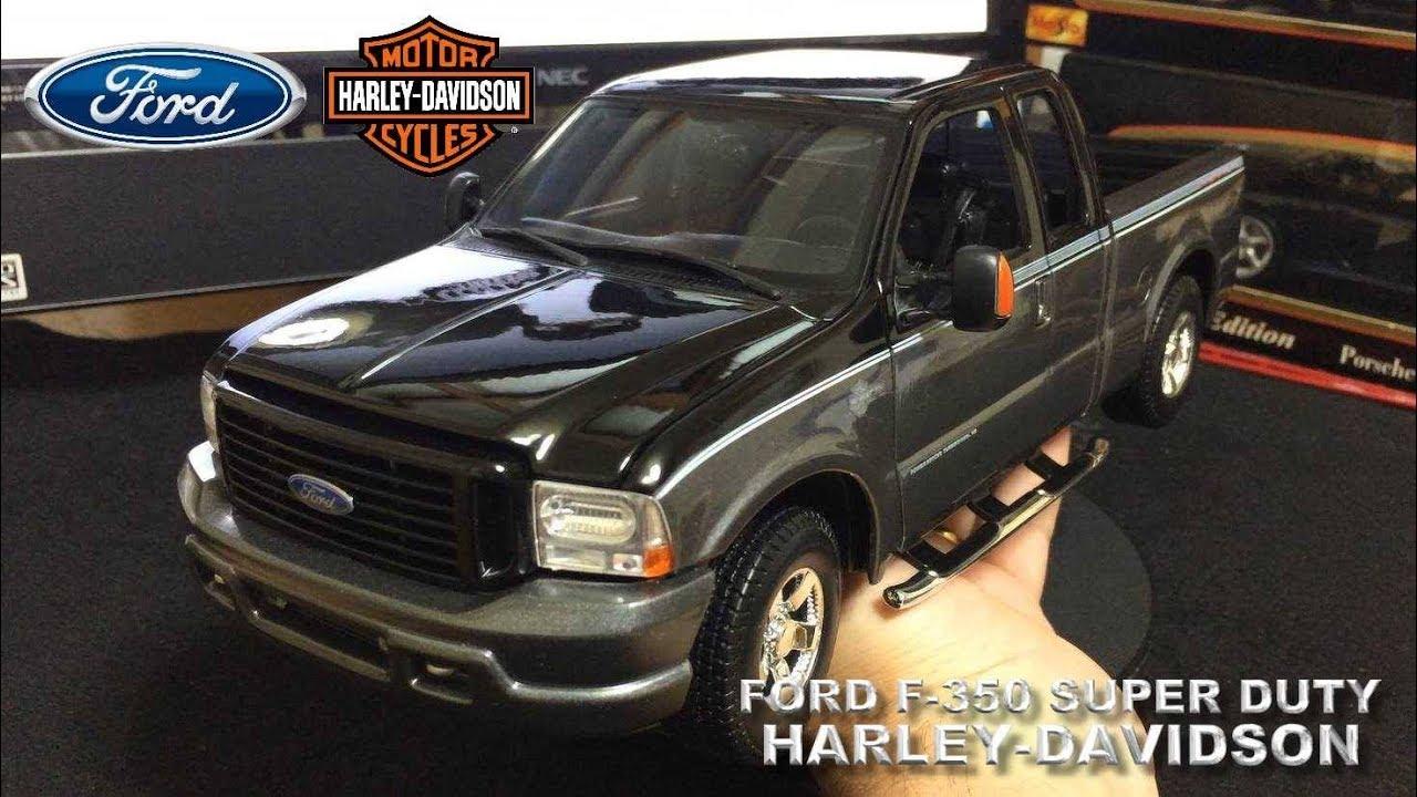 Ford Super Duty >> Ford F-350 Super Duty Harley Davidson 1/18 - YouTube