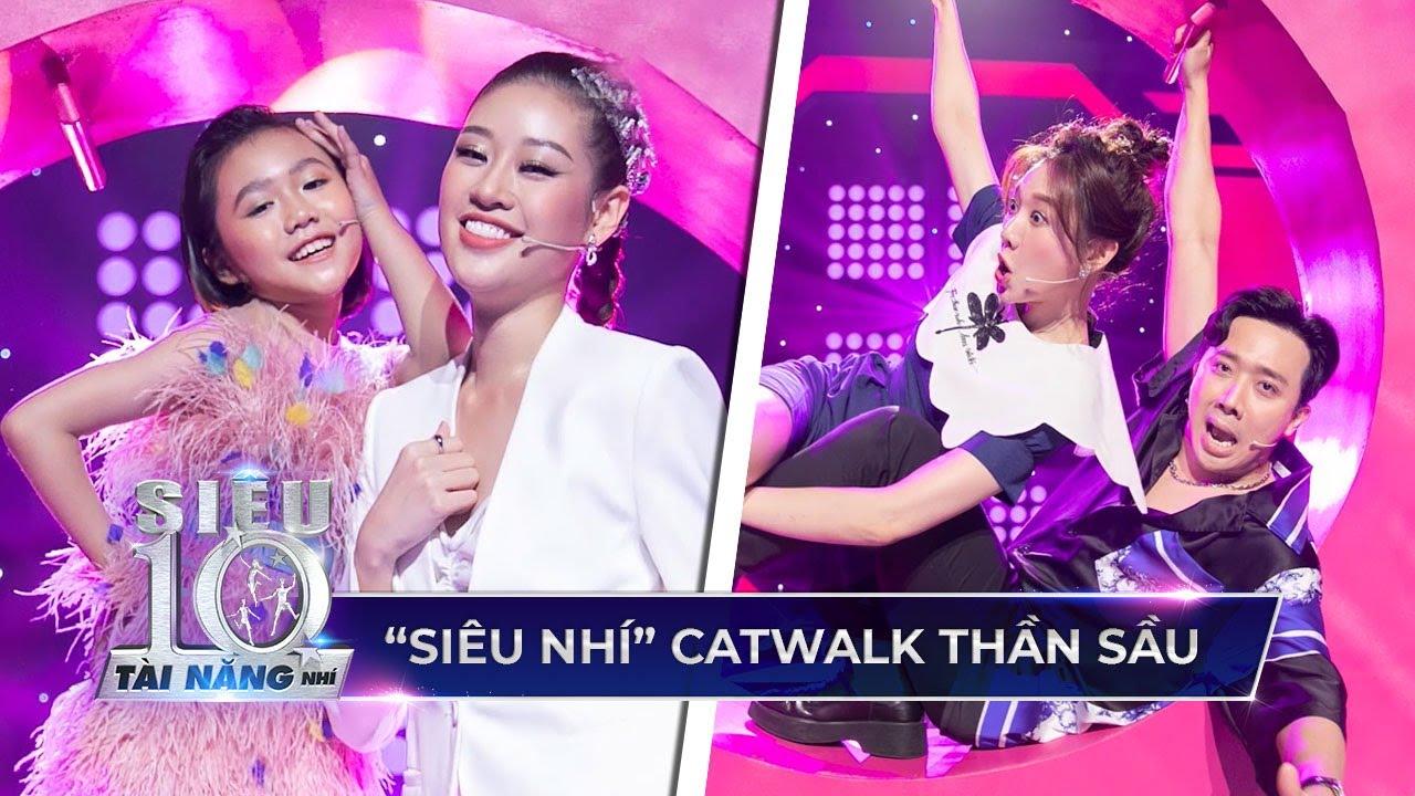 Trấn Thành, Hari Won 'ĐIÊU ĐỨNG' vì thử thách bắt chước bé Khánh An catwalk | Siêu Tài Năng Nhí