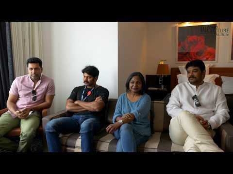 Sangamithra Cannes 2017 director Sundar C & Arya & Jayam Ravi