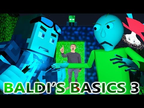 BALDI'S BASICS IN MINECRAFT 3! (Official) Baldi Minecraft Animation Horror Game