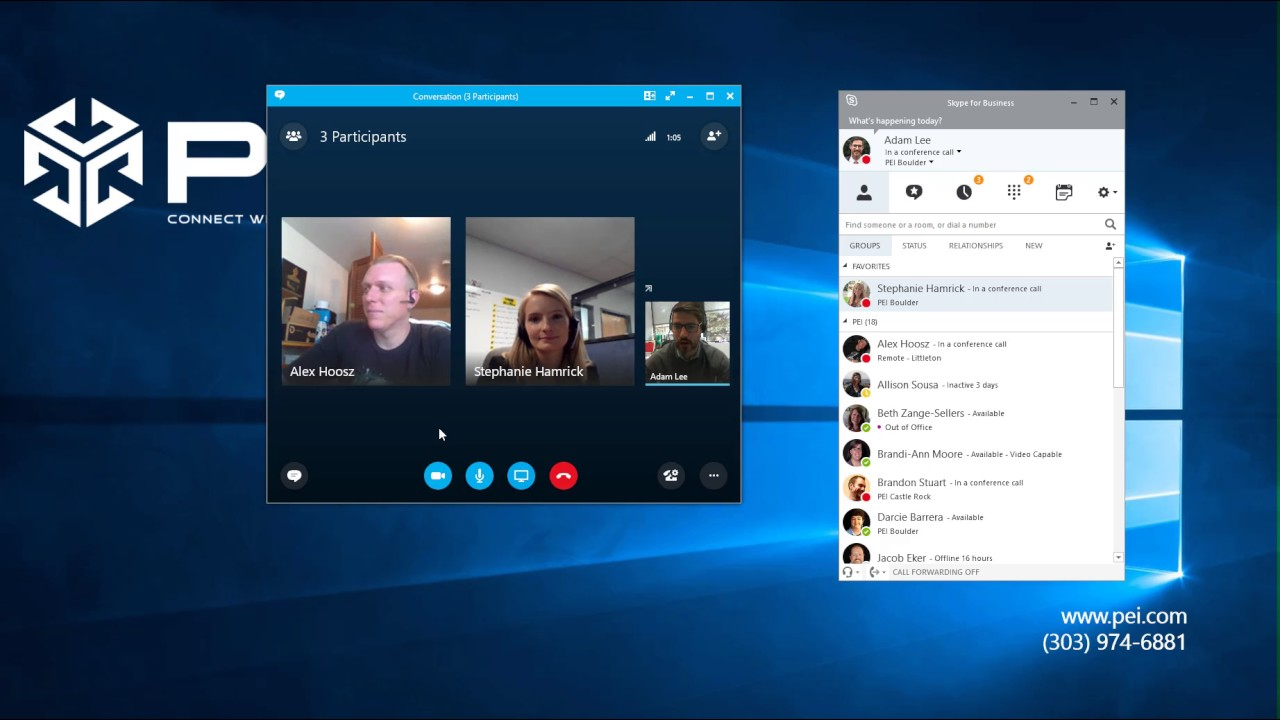 Microsoft Skype for Business | PEI - How To Create a Group Conversation and Conference Call Ad Hoc