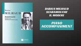 Darius Milhaud – Scaramouche, mvt. II (Piano Accompaniment)