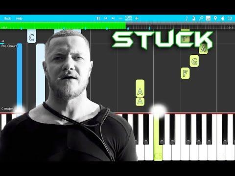 Imagine Dragons - Stuck Piano Tutorial EASY (Origins) Piano Cover
