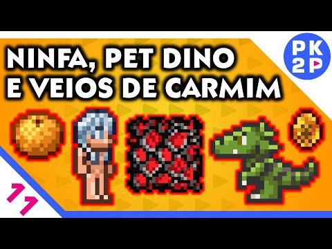 Terraria Master  ► Ninfa, Mais Carmim Na Caverna E Dinossauro! #11