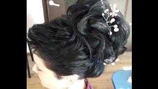 1.Свадебная причёска из короткой стрижки в высокую причёску. 2.Причёска хвост.