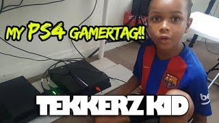 My PS4 Gamertag!!!    Gaming Setup!!!   Tekkerz Kid