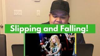 K POP IDOLS SLIPS AND FALLS REACTION!!!!