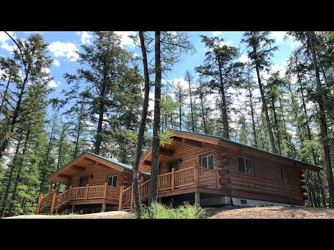 18x24 Montana Log Cabin Walk Through, A Meadowlark Single Level