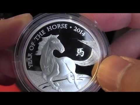 Royal Mint Lunar Horse Silver Proof Coin Showcasing