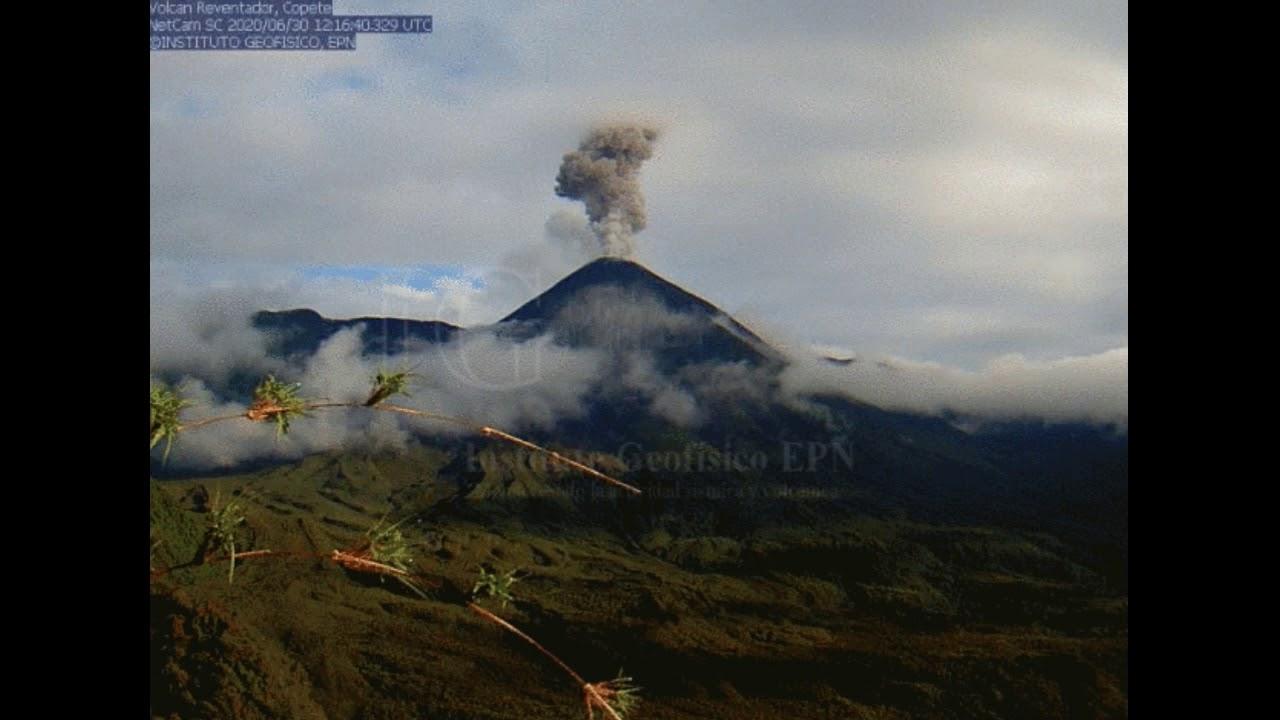June 30, 2020, ~ Reventador Volcano, Ecuador ~ Eruption
