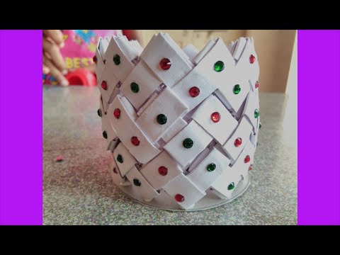 Best Out of Waste With Paper || DIY How to Make Paper Pen Stand with Waste Paper
