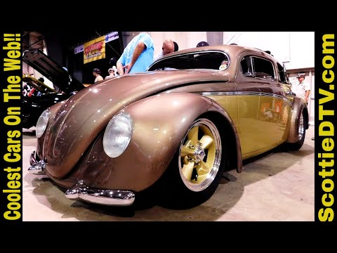 """1956 Volkswagen Beetle Rag Top Custom """"Berlin Buick"""" 2017 Goodguy's PPG Nationals"""