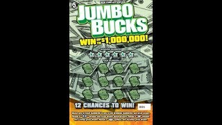 $5 - JUMBO BUCKS!  New Ticket from NYS Lottery!  WIN!! Lottery Scratch Off instant tickets!! WIN!!