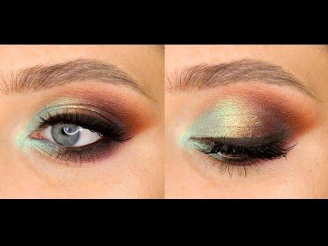 Яркий вечерний макияж с пигментами