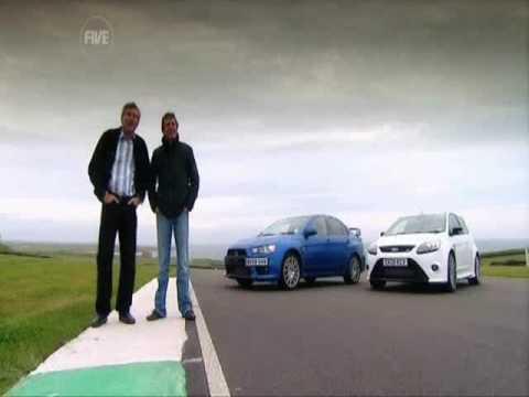 Fifth Gear: Mitsubish Evo X vs Ford Focus Rs
